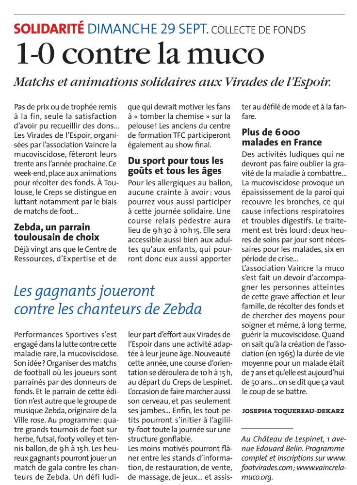 article Voix du Midi - 27-09-2013